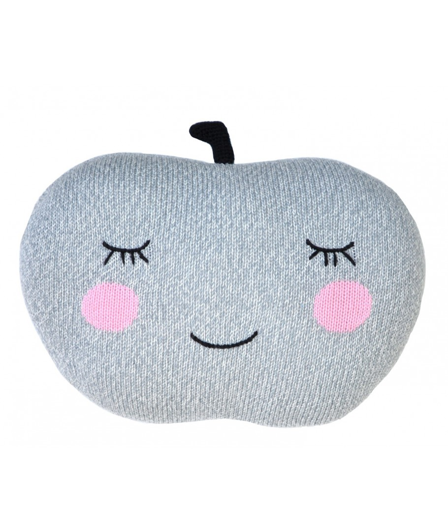 Poduszka Knit Pillow Apple grey szara