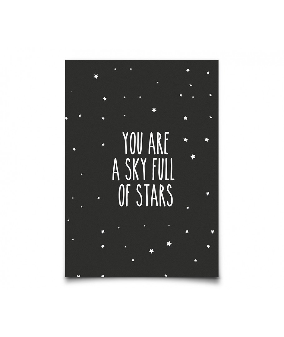 9a1ef32ce3f Postcard You Are a Sky Full Of Stars, Eef Lillemor, Cards