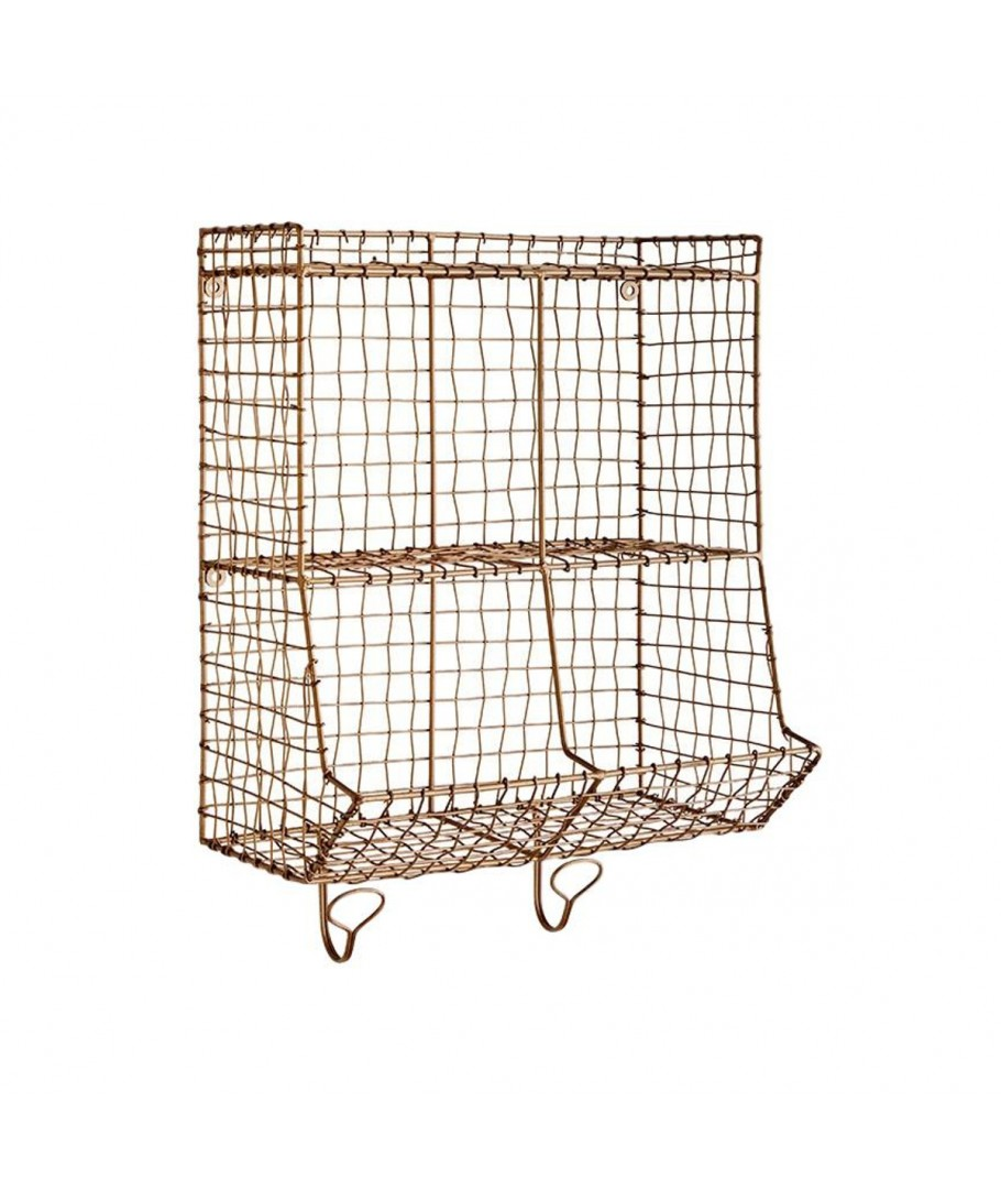 Rack with hooks brass, Madam Stoltz, Shelve & Storage