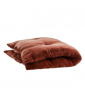 Velvet Mattress pure cotton brown tandori spice, Madam Stoltz