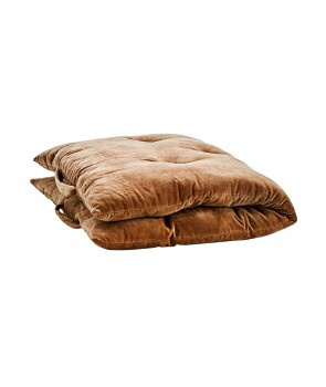 Velvet Mattress pure cotton brown, Madam Stoltz, Pouffes & Bean