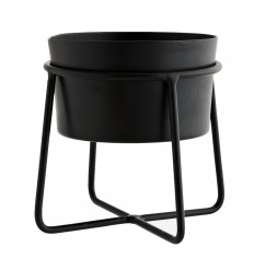 Iron flower pot with stand black, Madam Stoltz, Decor